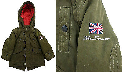 BEN SHERMAN Boy's Kids Toddler Hooded Jacket Coat British U.K. Green Size 2T