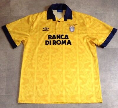 Lazio Football Shirt Original Umbro Away Kit 1993-1994 Banco Di Roma