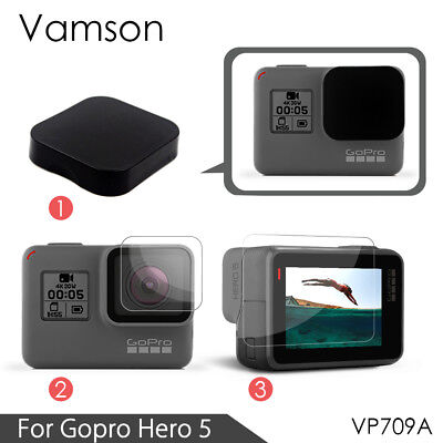 3 in 1 Lens Protection Cover+Temper LCD Screen Protector Film for GoPro Hero 6 5