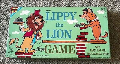 Transogram  Lippy The Lion  Flips Game  Hanna Barbera  1962  Hardy Har Har