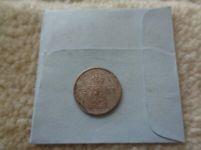 1869 Norway 3 skilling silver coin