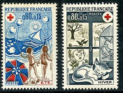 Stamp / Timbre France Neuf Luxe N° 1828/1829 ** Croix Rouge L'ete Et L'hiver