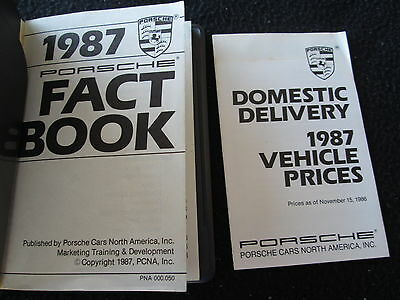 1987 Porsche DEALER-only Fact Book 944 928 911 Turbo Sales Ref Internal Brochure
