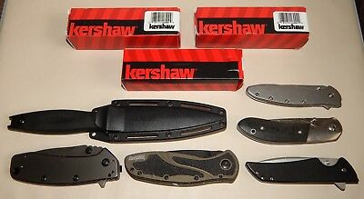 LOT Of 9 Kershaw Knives - 1760, 1670OLBLK, 1556TI, 1600, 8700, 4007, 1660, 3160