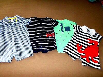 Toddler Boys 12 Mo. Mixed Lot of 4, Carter's, Mudpie, All Seasons, GUC