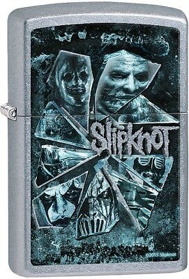 Zippo 28992 Slipknot Shattered Glass Street Chrome Lighter 2.25 x 1.4375