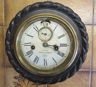 Unusual Antique Ansonia 'Cable Lever' Clock needs fully restoring