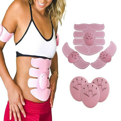 PINK - Smart ABS Muscle Arm Abdomen EMS Training Gear Body Exerciser Simulation