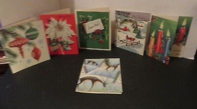 1960s CHRISTMAS CARDS FROM QUEBEC CANADA IN FRENCH LOT OF 6 FREE SHIPPING* CX1