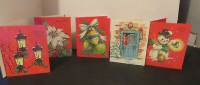 1960s CHRISTMAS CARDS FROM QUEBEC CANADA IN FRENCH LOT OF 5 FREE SHIPPING* CX2