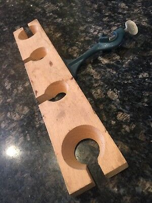 2 Pieces!  Cenco Lab Wooden Funnel Support Distill Filter Stand Support