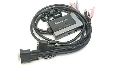 IOGear 2-Port USB DVI-D Cable KVM w/ Audio & Mic | Includes Remote | GCS932UB |