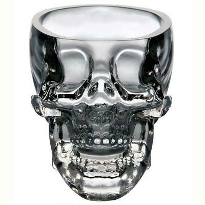 New Crystal Skull Head Vodka Whiskey Shot Glass Cup Drinking Ware Home Bar LRし