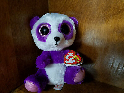 eca7627faf3 Authentic Ty Beanie Boo Boom Boom the Panda 6 inch size. New and Mint with