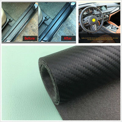 Carbon Fiber Surface Scuff Plate Door Sill Cover Threshold Step Guard Waterproof