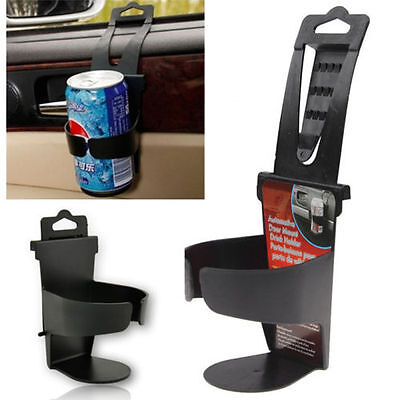 Black Universal Vehicle Car Truck Case Door Mount Drink Bottle Cup Holder Stand