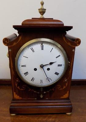 french mahogany inlaid striking bracket clock c1900s