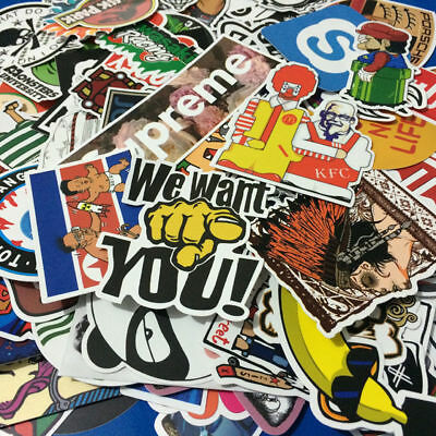 50 Pieces Stickers Skateboard Sticker Graffiti Laptop Car Luggage Decals New