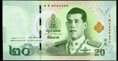 Thailand 20 Baht Nd 2018 P New Rama X Unc