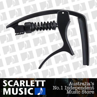 Planet Waves NS Tri-Action Guitar Capo Black for Acoustic or Electric 6 string