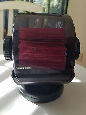 Rolodex Covered Rotary Business A-Z File Swivel Base