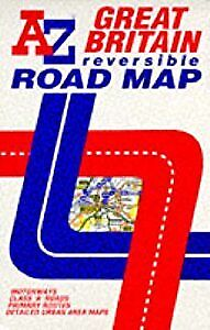 AZ Reversible Road Map of Great Britain, Geographers A-Z Map Co. Ltd., Used; Acc