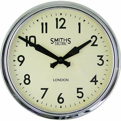 Smiths Clocks Retro Chrome Wall Clock 38Cm