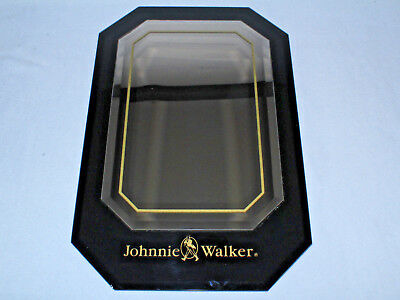 GORGEOUS Johnnie Walker Black Scotch Rare Promotional Mirror Beveled Glass MINT