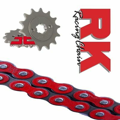 Honda CBF125 Chain and Sprocket Kit Red RK Racing JT Sprockets 2009-16