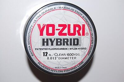 4 PACK YO-ZURI HYBRID Fluorocarbon Fishing Line 40lb//600yd CLEAR COLOR NEW!
