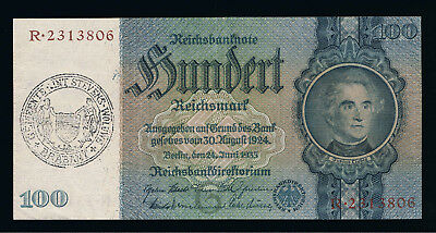 Deutschland Germany Belgium 100 Mark 1935 P 176 d XF - belgium stamp -