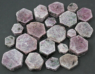 2 lb Bulk Wholesale Lot Ruby Sapphire Natural Hexagonal Corundum Crystals