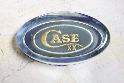 Vintage Case XX USA Patch in Antique Glass Paper Weight