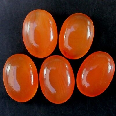 Lot of 14x10mm Oval Cabochon Top Grade Natural Earth Mined Carnelian Gemstone