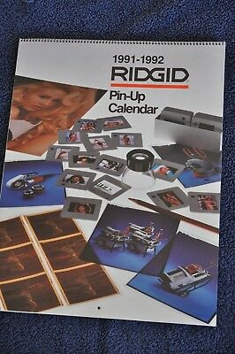 Set of 2 Rigid Tool Pin-Up Calendars -1991-1992 & 1997-1998.  Brand New!