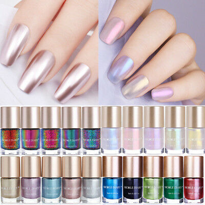 9ml Rose Gold Red Mirror Metallic Nail Polish Shell Chameleon Nail Art Varnish