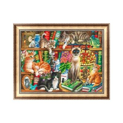 DIY 5D Diamond Painting Cute Cats Embroidery Cross Stitch Crafts Kit Home Decor