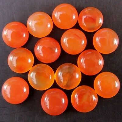 Wholesale Lot of 7mm Round Cabochon Top Grade Natural Earth Mined Carnelian Gems
