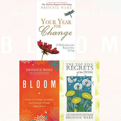 Bronnie Ware Collection the Top Five Regrets of the Dying Bloom 2 Books Set New