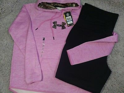 Women's Extra Large Under Armour Cold Gear NWT Hoodie & NWOT Track Pants