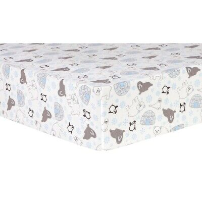 Trend Lab Animal Tepee Deluxe Flannel Fitted Crib Sheet 102745 Sheets