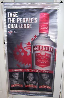 New SMIRNOFF VODKA  Big Satin Advertising Banner Sign