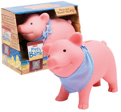 Schylling RPB Cute and Happy Rubber Piggy Bank for Ages 3+ Kids, New