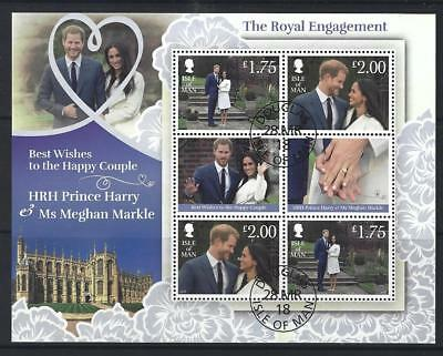 Isle Of Man 2018 Harry And Meghan Engagement Sheetlet Fine Used