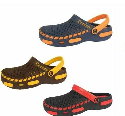 Mens Eva Clogs Beach Summer Mules pool Sandals Size 7-12 Navy Brown Red Coolers
