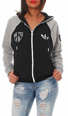 d4009aad84e Adidas Originals Brooklyn Nets FZ Hoodie NBA HOODED JACKET WOMEN CHILDREN  D85137