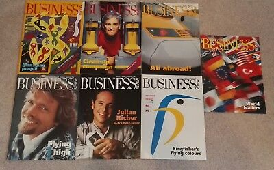7 BUSINESS REVIEW Magazines 1997-1999, Dyson, Richard Branson Virgin, Kingfisher