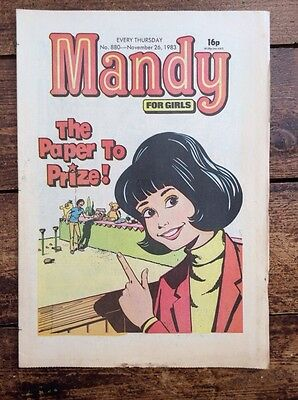 Mandy Comic. 26 November 1983. Unsold Newsagents Stock Unread. Vfn