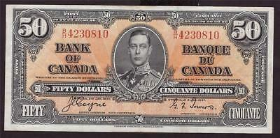 1937 Bank of Canada $50 banknote BC-26c Coyne Towers  B/H4230810 VF25+