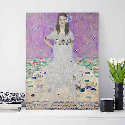 xxl gustav klimt jugendstil leinwand 100x97x5 canvas gem lde bild ikea malerei eur 74 99. Black Bedroom Furniture Sets. Home Design Ideas